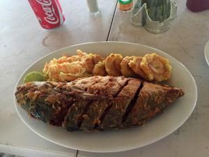 Almoço Isla Perro em San Blas no Panamá