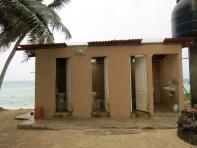 banheiro Isla Perro em San Blas no Panamá