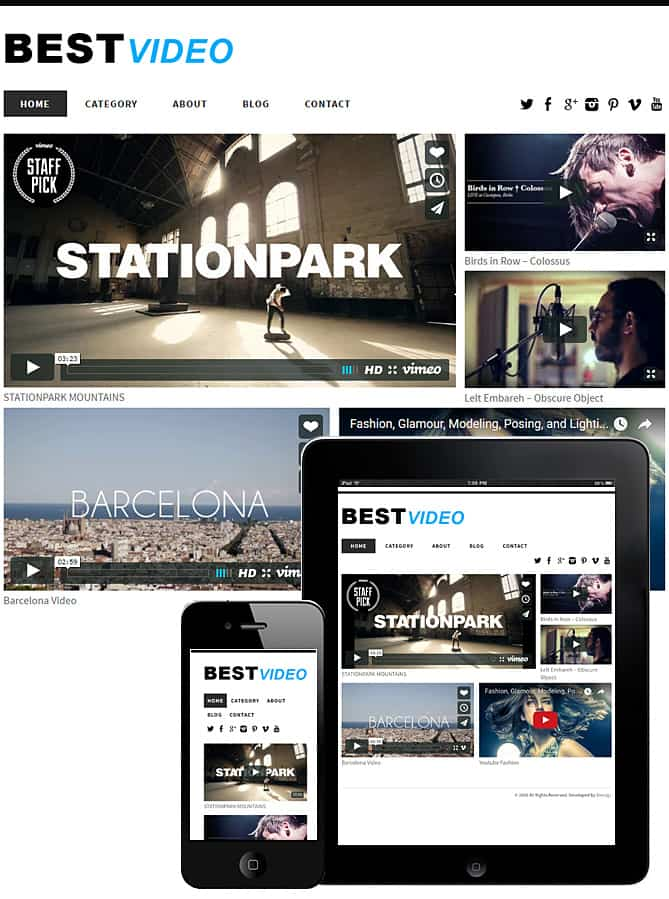 best-video-wordpress-theme - Best WordPress Themes for Creatives