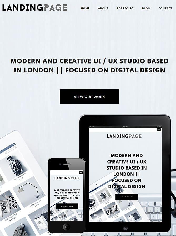 Landing Page WordPress Theme - Dessign Theme