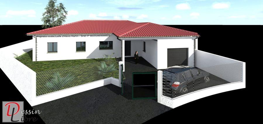 Maison de Plain Pied de 122m² avec Garage et Pool House attenant - Labastidette(31)