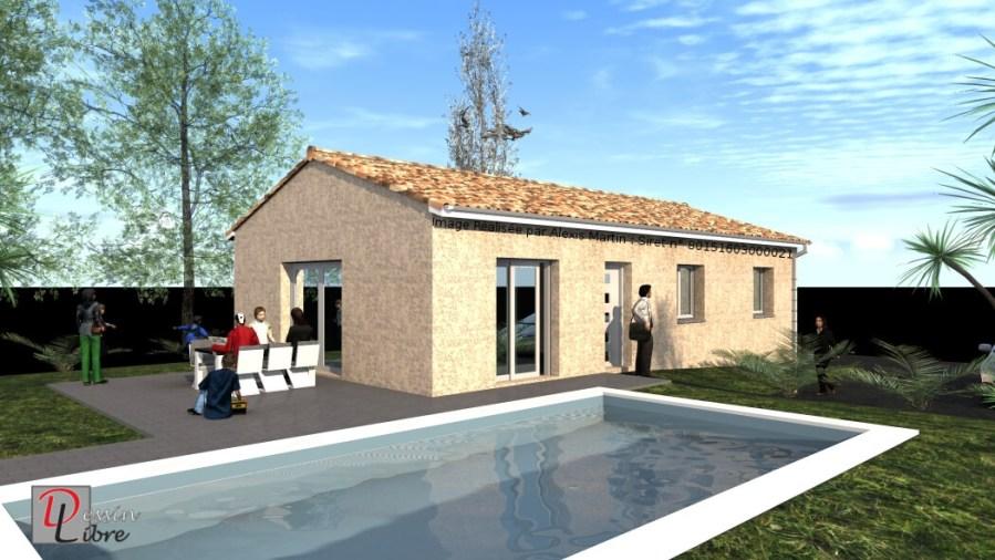 Maison Rectangulaire Type T4 de 80 m² – Lavernose Lacasse (31)