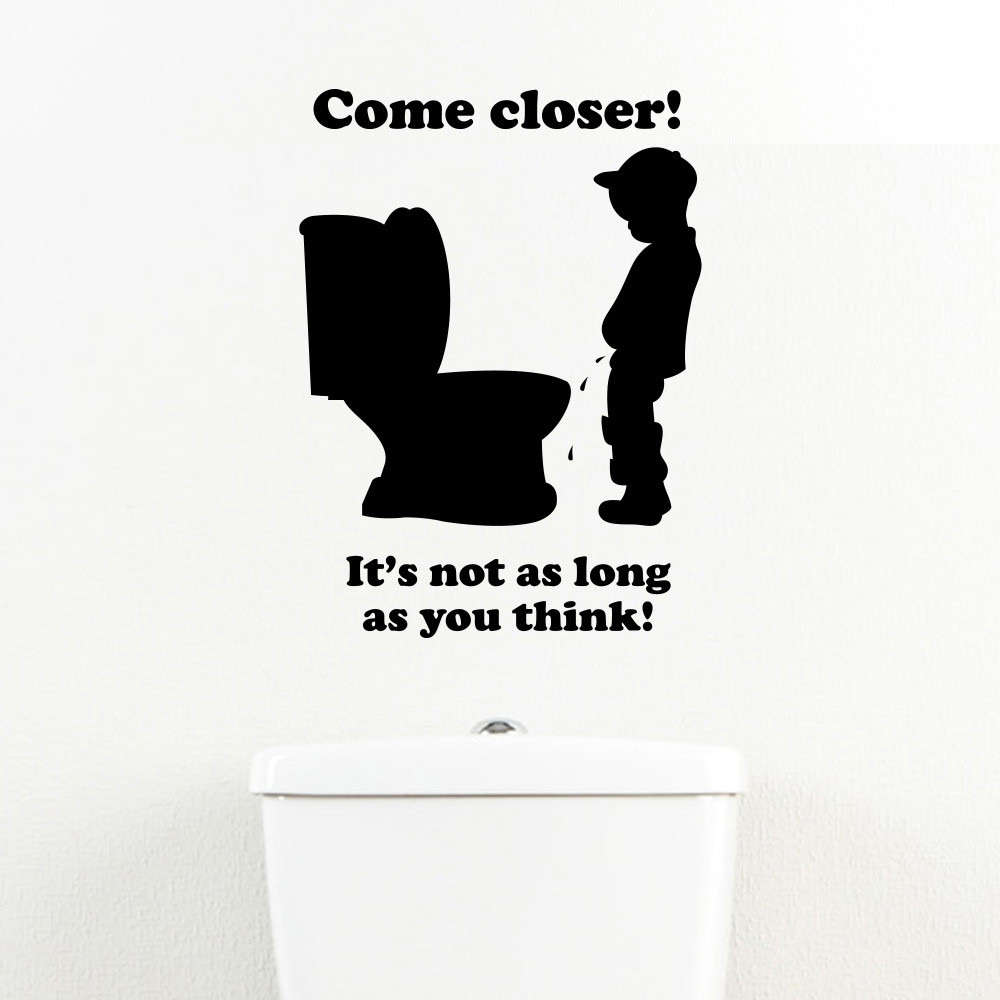 Foto Vergroten 30x40 Come Closer Toiletsticker