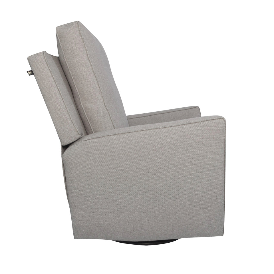 The 1st Chair Brisa Modern Swivel Glider Recliner Suited Grey Destination Baby Kids