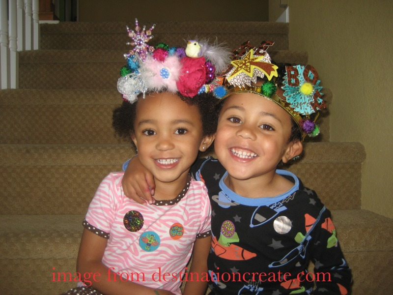 Birthday crowns for the twins