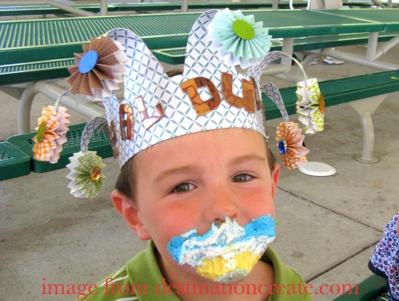 Birthday crown for a little boy