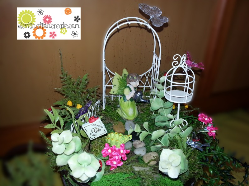 Fairy Garden in a wire teacup
