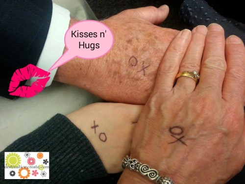 Kisses n' Hugs on the hand