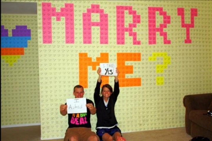 Post-it Note Marriage Proposal