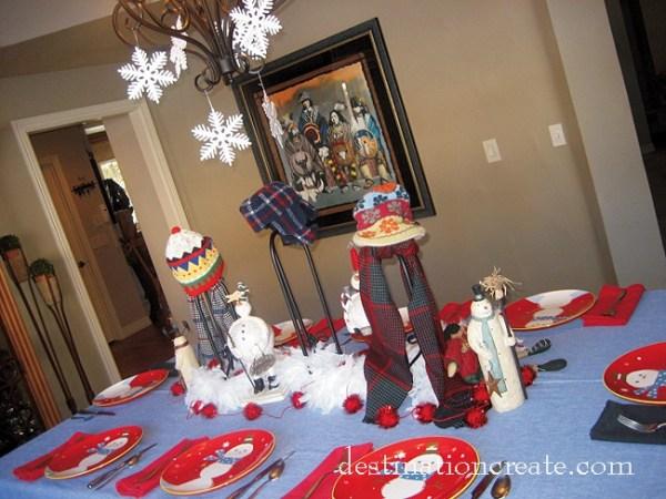 Snowman Table Setting