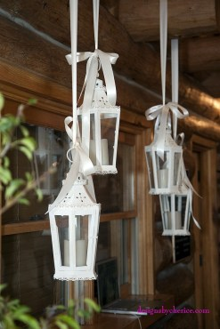 DIY vintage wedding rentals Denver- white metal & glass lanterns