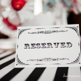 "vintage style ""reserved"" tent-fold card"