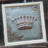 Vintage Wedding Rentals Denver- embossed metal crown sign