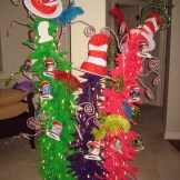Brightly colored funky Christmas trees just scream Dr. Suess!