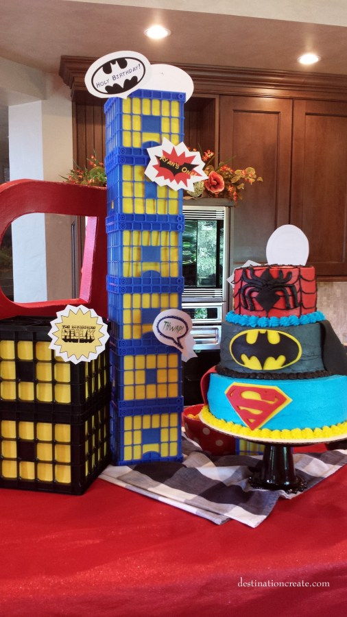 Super Hero Party decorations-