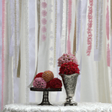 Wedding backdrop rental- ribbon backdrop