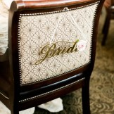 Wedding chair-back decor