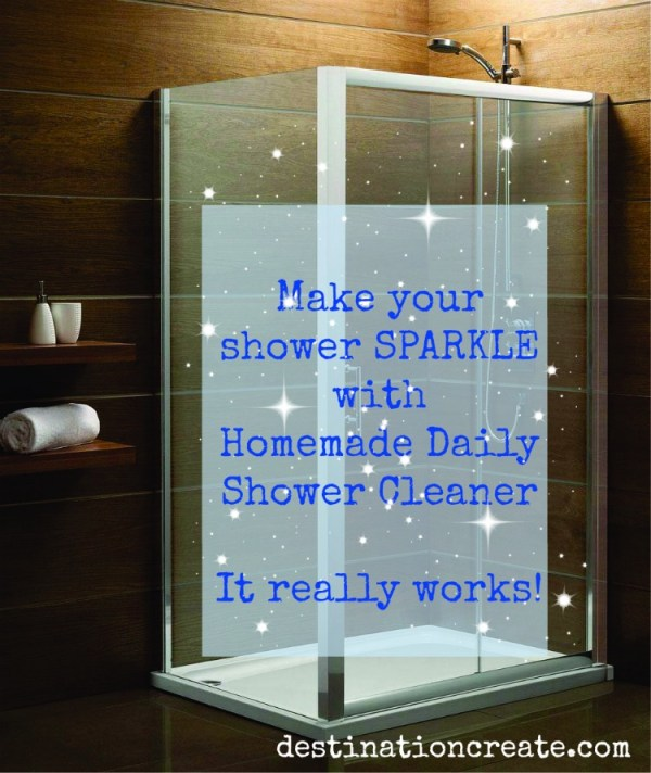 If you're like me you don't LOVE cleaning the shower, and if you have a glass shower then it's even worse right? Of course the answer is to use a daily shower cleaning spray... but they're expensive! I've been using homemade shower cleaner for years now and it really works! CLICK through for the recipe.