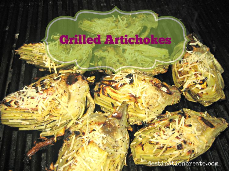 Grilled artichokes are delicious! I will never go back to plain old steamed artichokes. Skip the butter! Just drizzle with olive oil, garlic, lemon juice and fresh rosemary then grill for yummy charred goodness