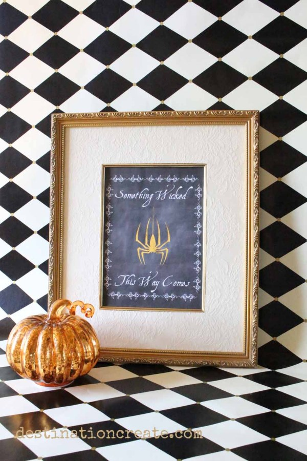 Use your laser printer or the Heidi Swapp Minc Foil Applicator to add glitzy metallic foil accents to this Halloween Printable that quotes Macbeth... something wicked this way comes