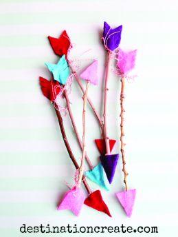 twig arrow tutorial for valentine's day