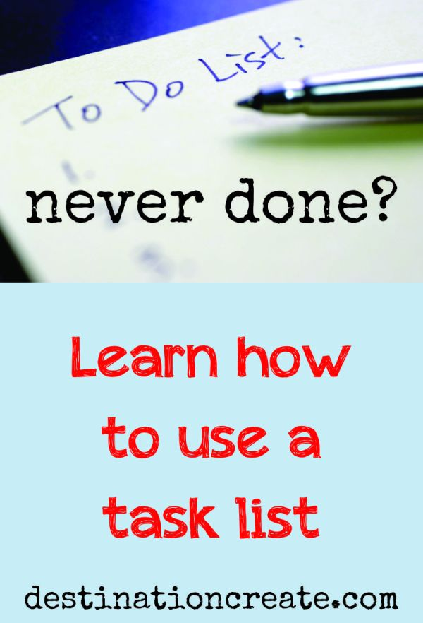 Is your To Do List out of control? Discover how to increase productivity with a Task List that works!