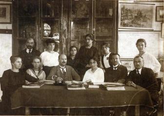 1921 г.- учители от непълната смесена гимназия