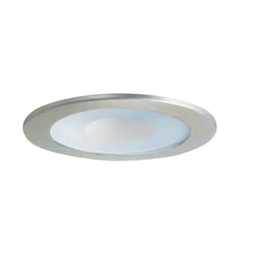 Juno Recessed Lighting Trim Satin Chrome Shower Trim For 4-inch Recessed Cans | 12 Wsc