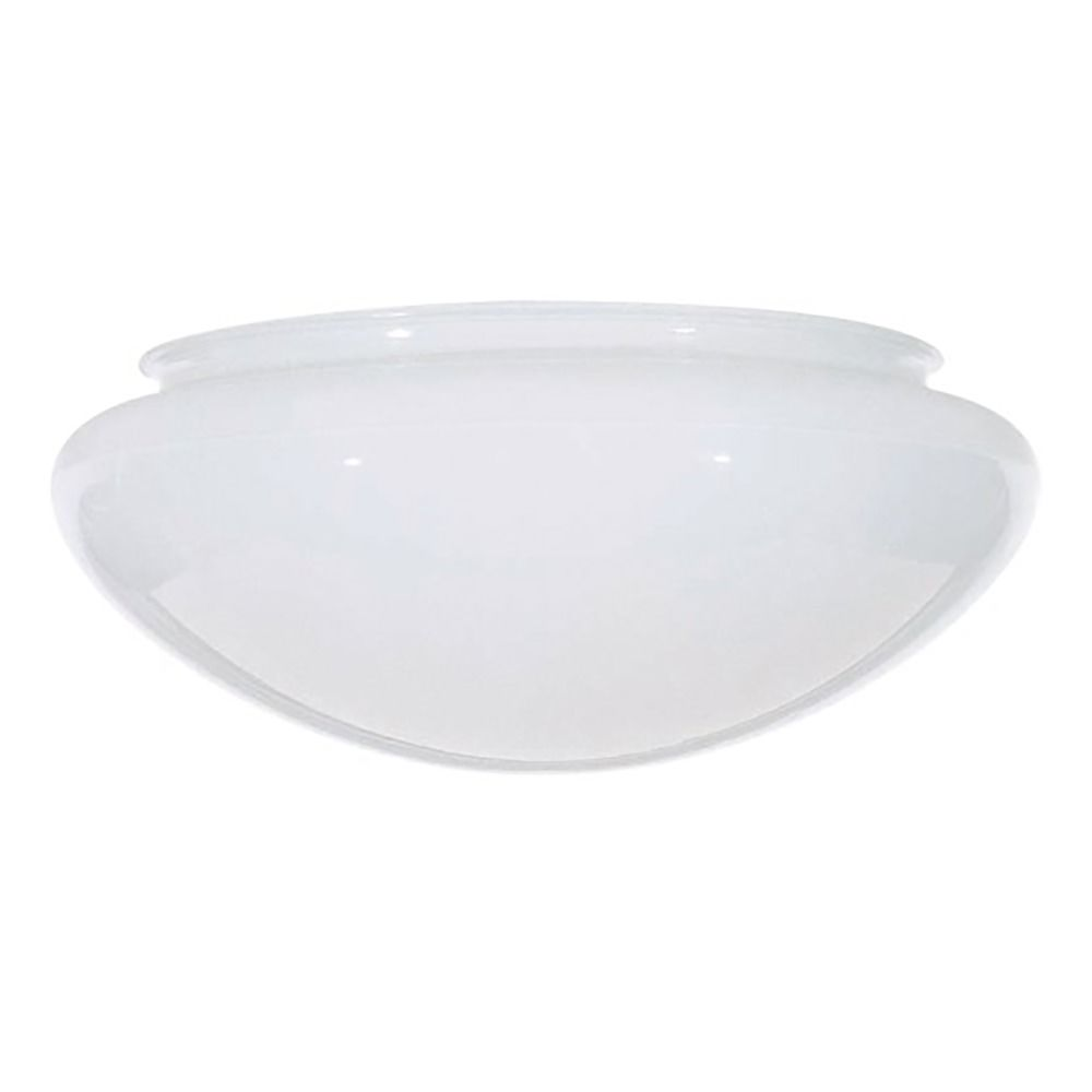 Glass Lamp Bowl Bowl Mushroom White Glass Shade 9 7 8 Inch Fitter Opening At Destination Lighting