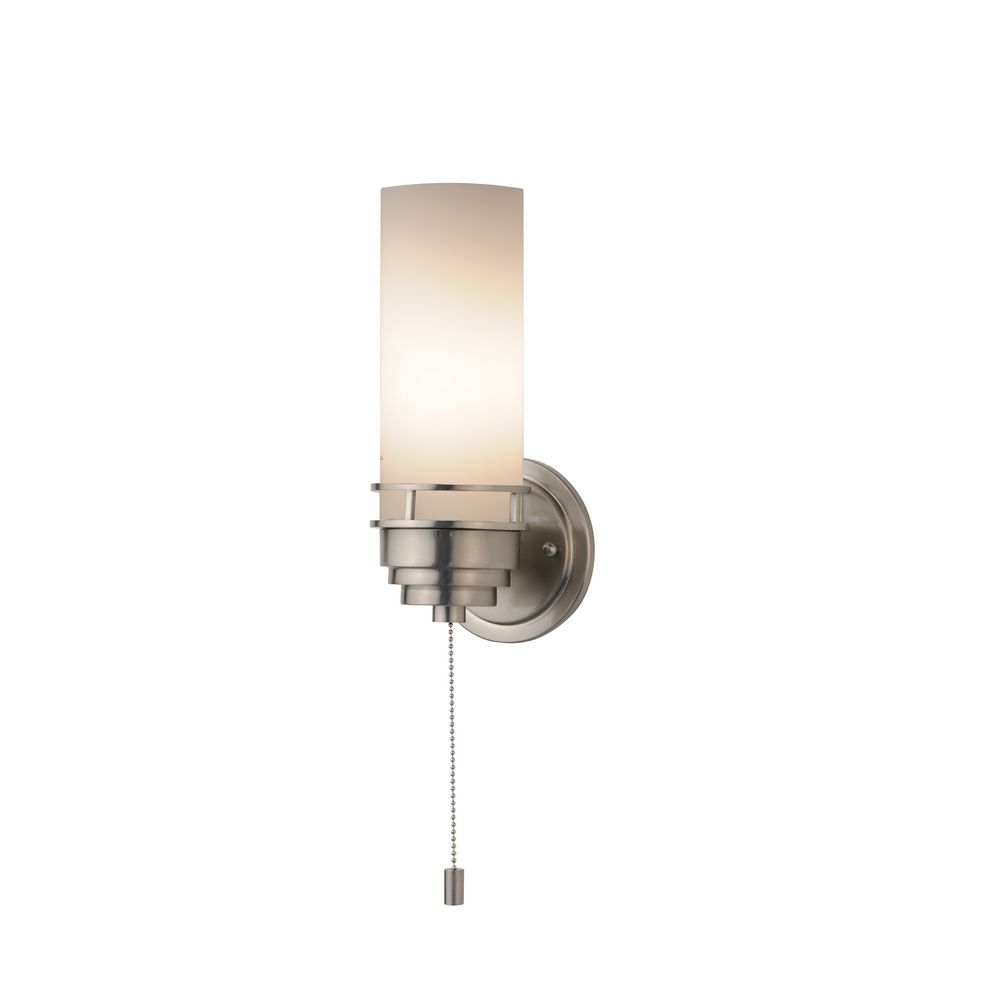 Lighting Wall Lights Contemporary Single Light Sconce With Pull Chain Switch At Destination Lighting