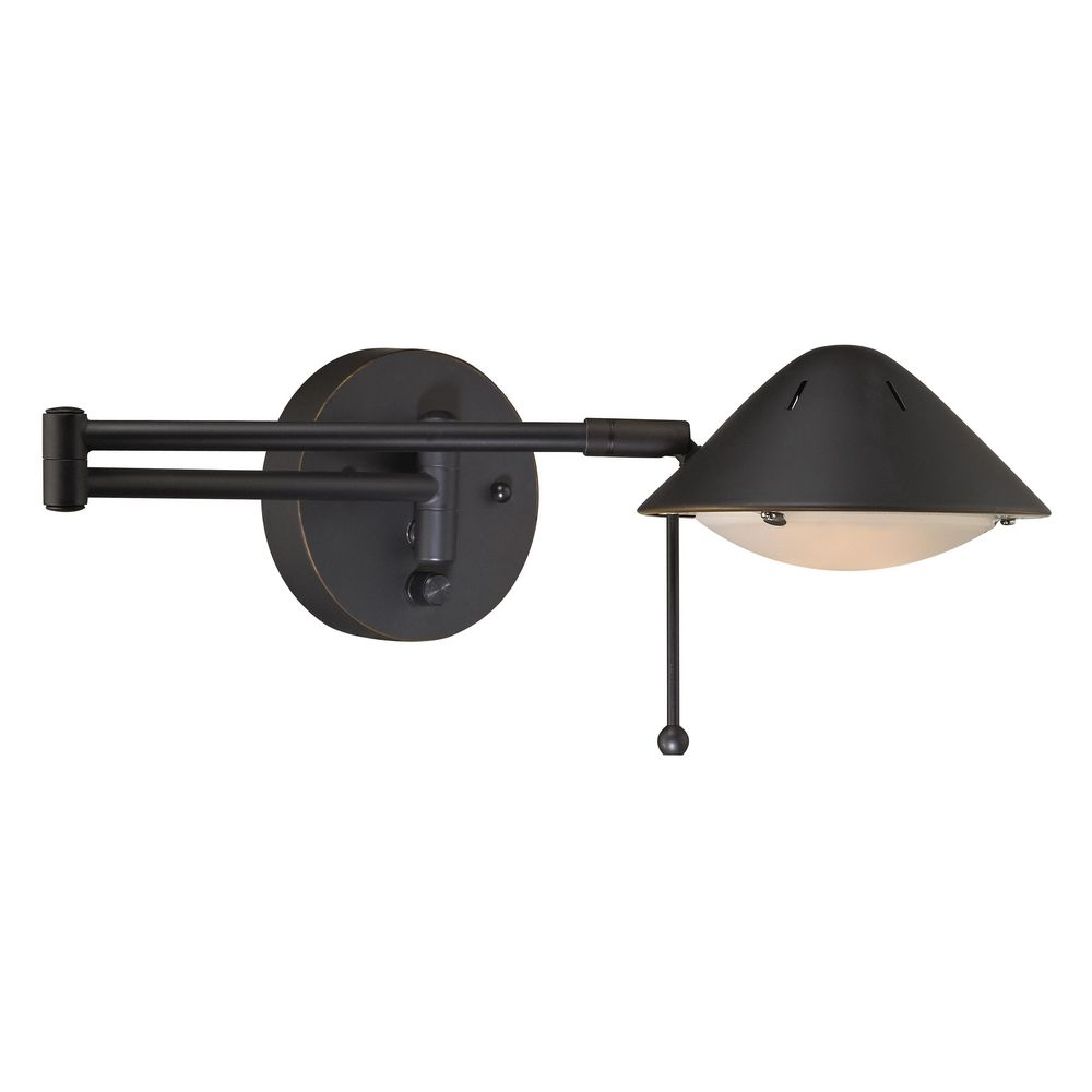 Arm Lamp Led Bronze Plug In Swing Arm Wall Lamp At Destination Lighting