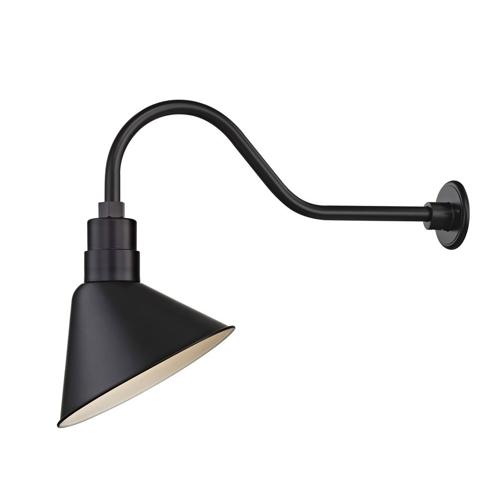 Gooseneck Lighting Black Gooseneck Barn Light With 12