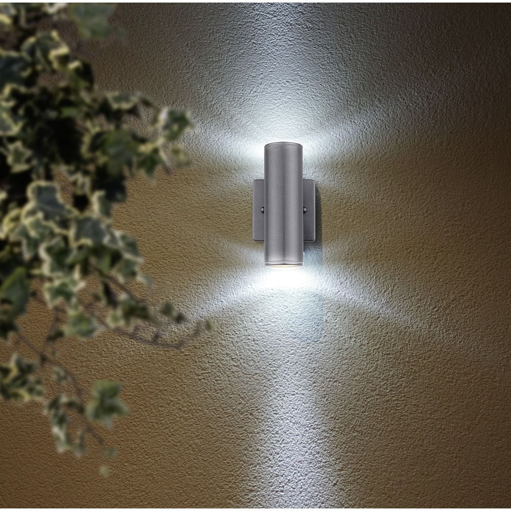 Eglo Riga Led Outdoor Wall Light Eglo Riga Anthracite Outdoor Wall Light At Destination Lighting