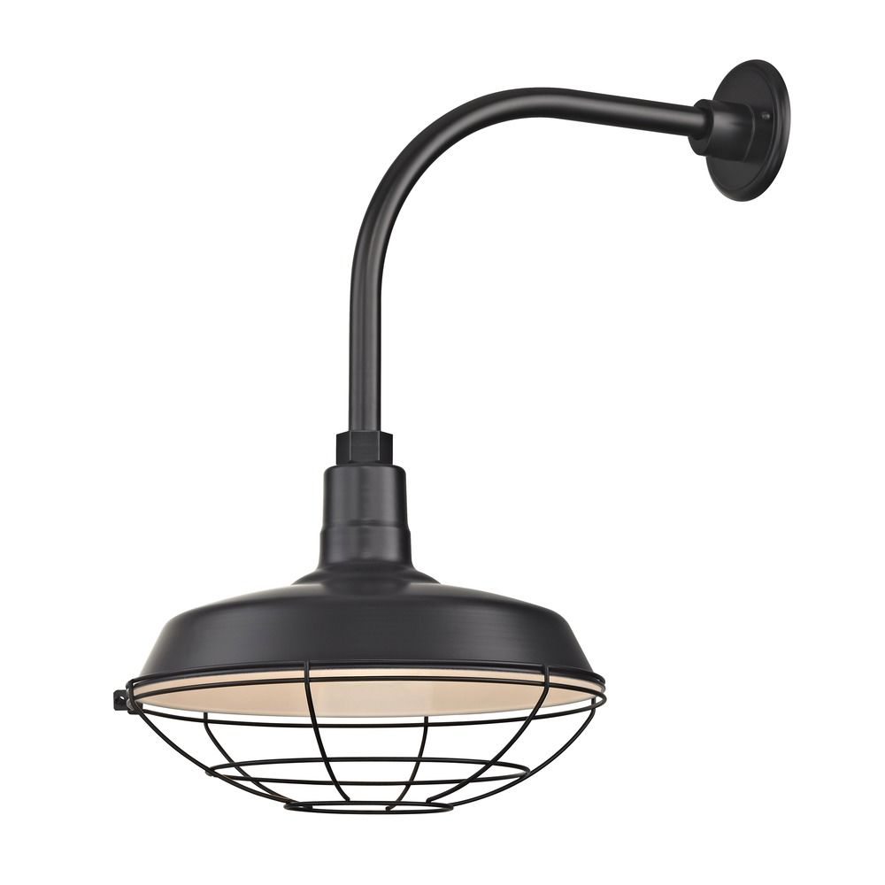 Gooseneck Lighting Black Gooseneck Barn Light With 14
