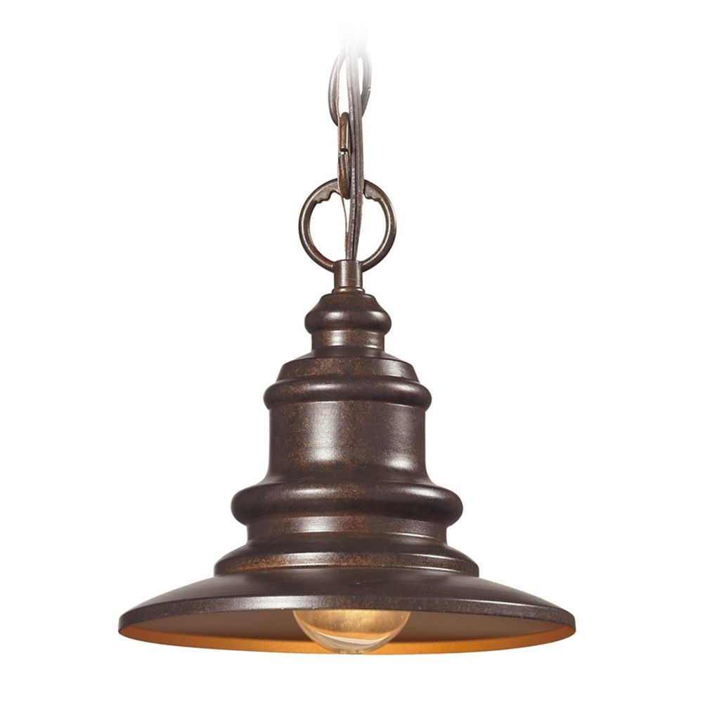 Outdoor Hanging Lamps Led Outdoor Hanging Light In Hazelnut Bronze Finish At Destination Lighting