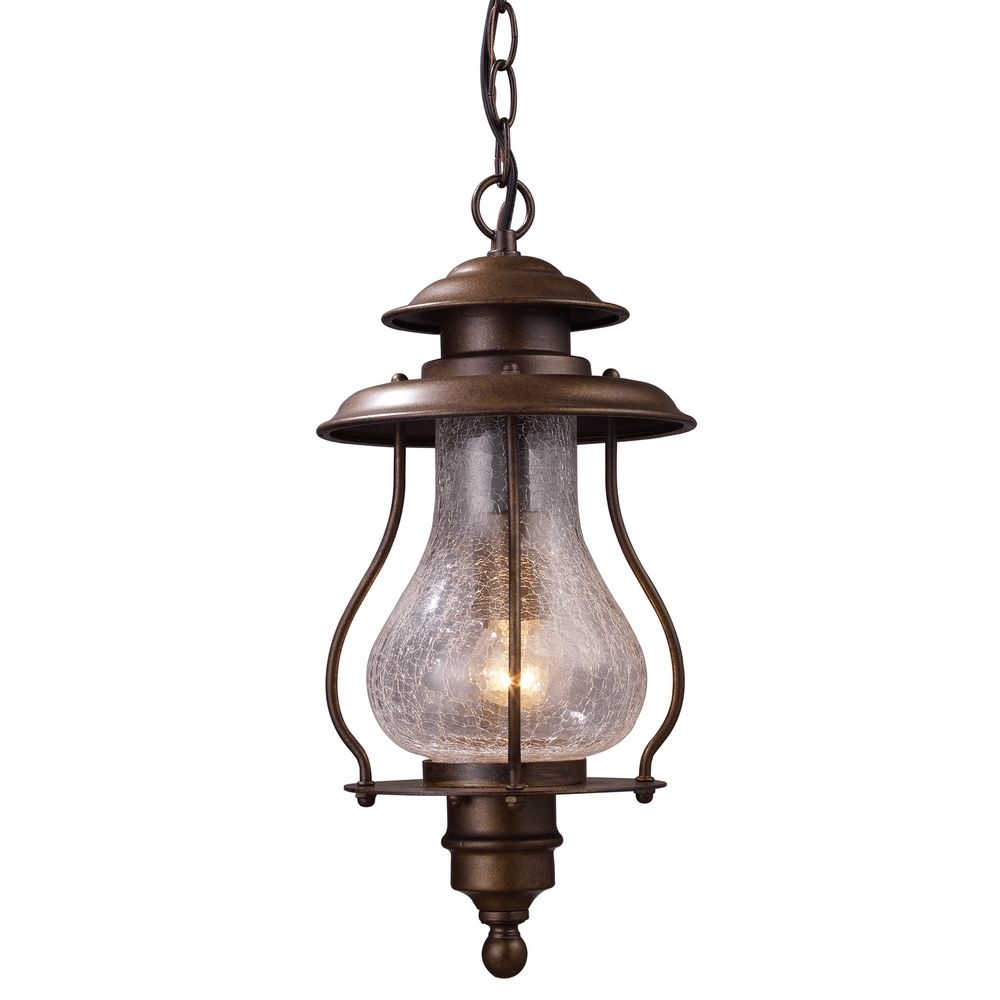 Outdoor Hanging Lamps Outdoor Hanging Light With Clear Glass In Coffee Bronze Finish At Destination Lighting