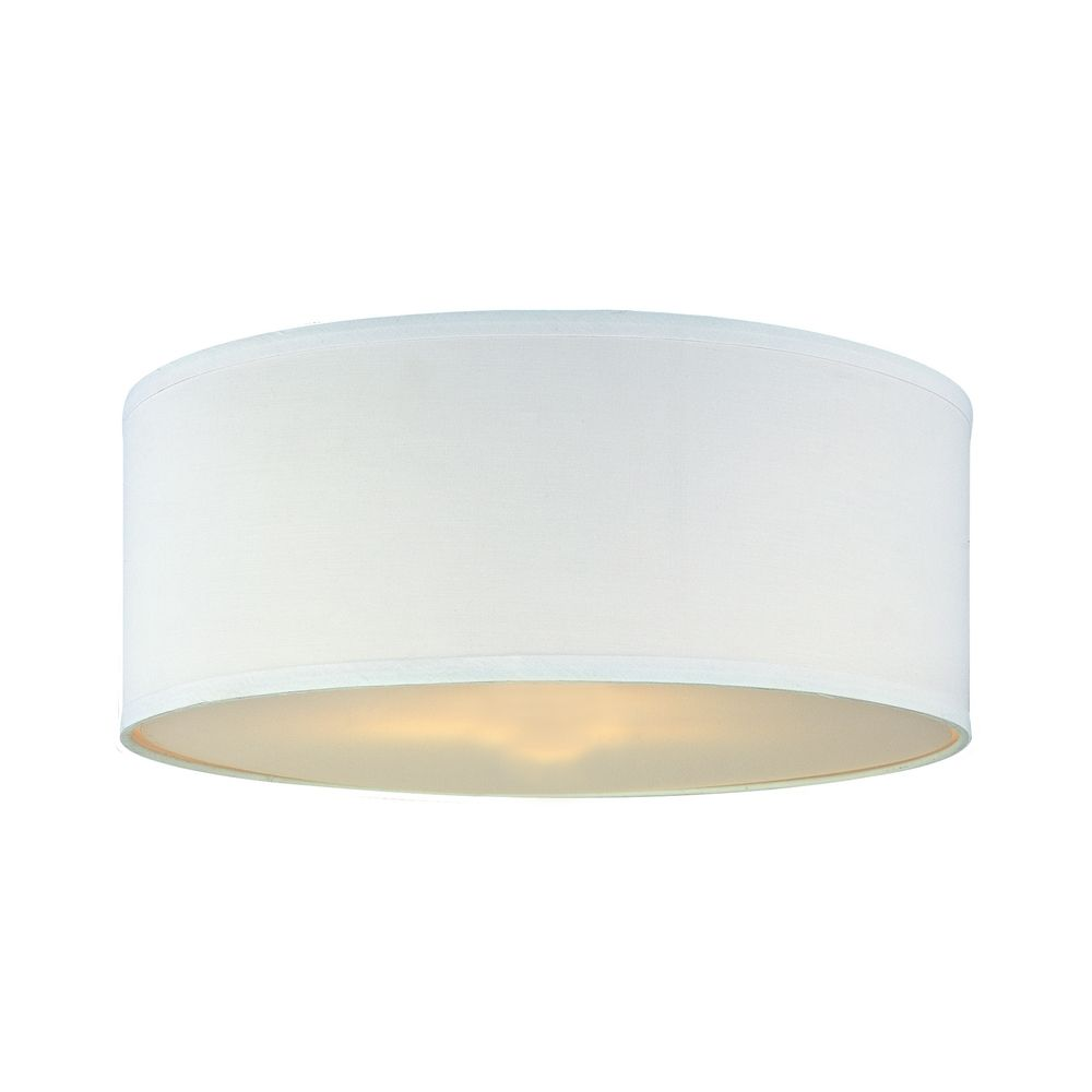 Ceiling Light Shades White Linen Drum Lamp Shade With Spider Assembly At Destination Lighting