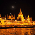 Budapest at night. Image courtesy Susan Michals.