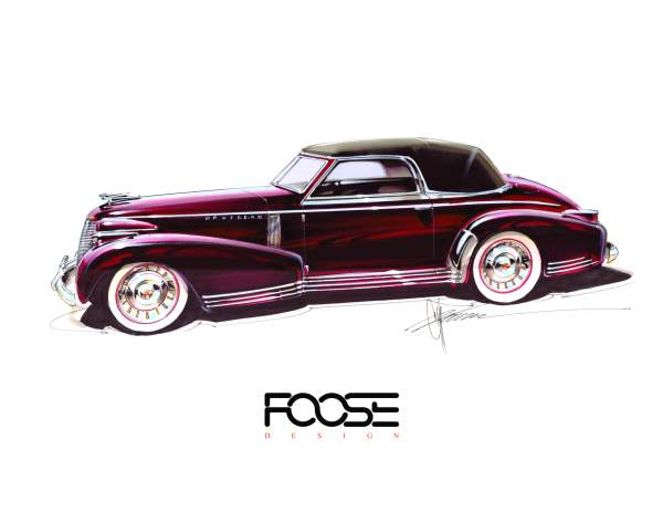 CHIP FOOSE CELEBRATES 30TH ANNIVERSARY AND DEBUTS 1939 CADILLAC MADAM X COUPE.