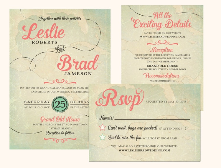 Destination Wedding Invitation Wording Etiquette and Examples - wedding program inclusions