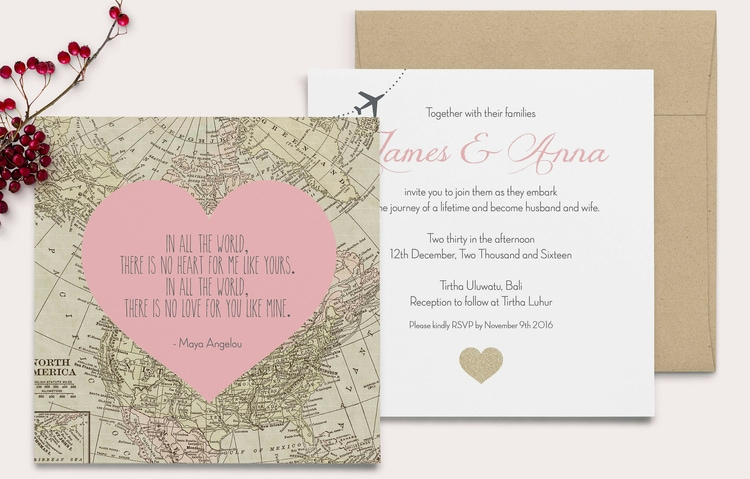 Destination Wedding Invitation Wording Etiquette and Examples - response card examples