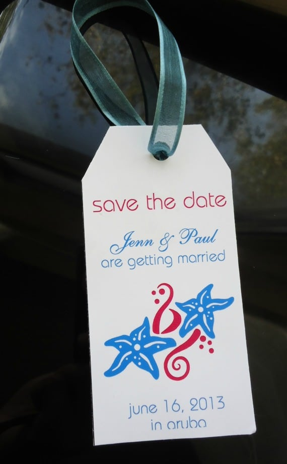 Save the Date Destination Weddings - Luggage Tag Template - Save The Date Wedding Templates