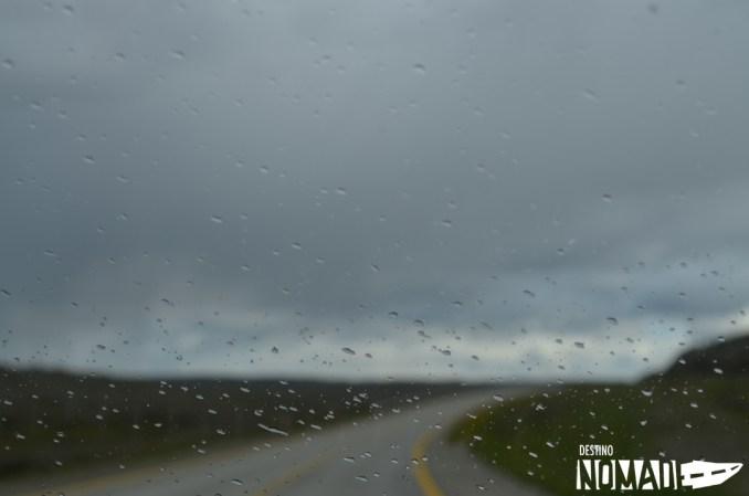 Llueve en Punta Arenas