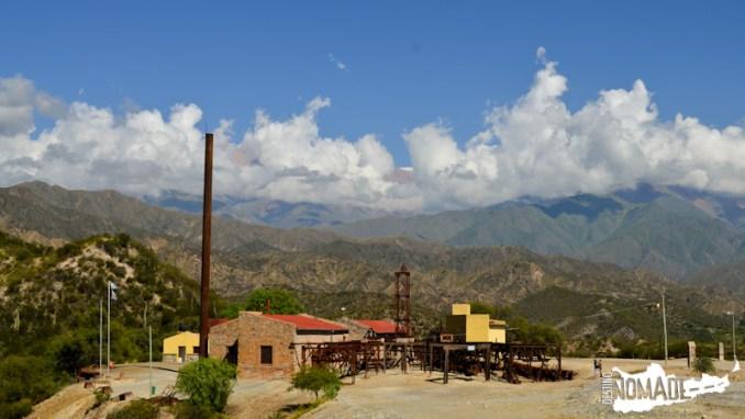 La segunda estación del cablecarril a la mina La Mexicana, Chilecito