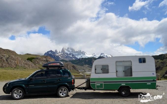 Llegamos al punto más occidental del país, en El Chaltén (Prov. de Santa Cruz)