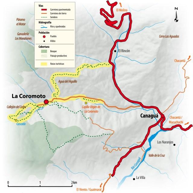 Mapa de La Coromoto
