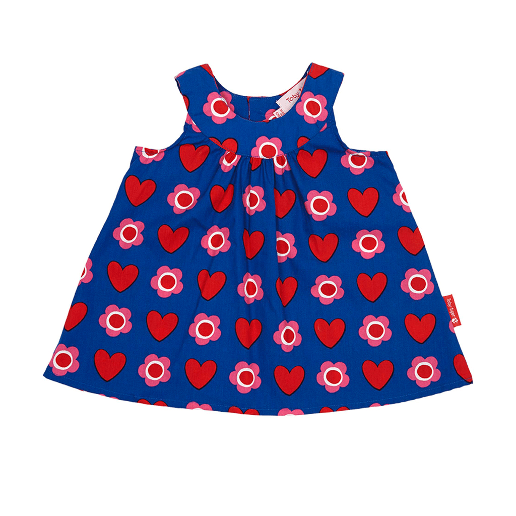 Bad Set For Baby Heart Flower Baby Dress Pants Set