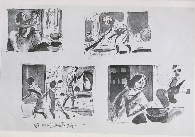 Pather Panchali (Song of the Road) Storyboard by Satyajit Ray - movie storyboard