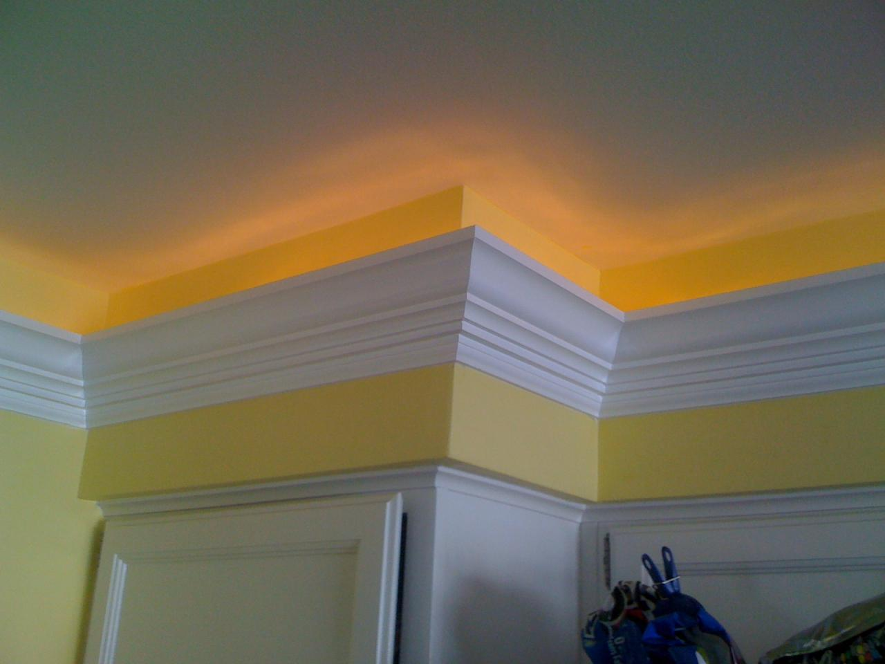 Rope Lighting With Crown Molding Details Carpentry And Remodeling Llc - Crown Molding
