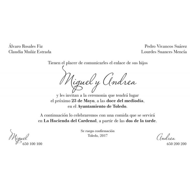 formato invitacion de boda - Canasbergdorfbib